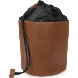 VIDA VIDA - Luxe Tan Leather Drawstring Wash Bag found on Bargain Bro from Wolf & Badger US for USD $47.88