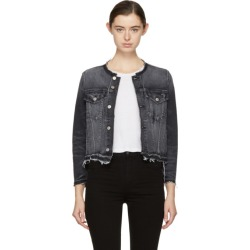 Amo Black Denim Lola Jacket found on MODAPINS from ssense asia-pacific for USD $314.63
