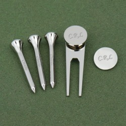Personalised Engraved Set of 5 Golf Accessories