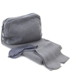 Cashmere travel set in grey