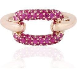 Artisan - 18Kt Rose Gold Natural Ruby Designer Ring Handmade Jewelry For Women
