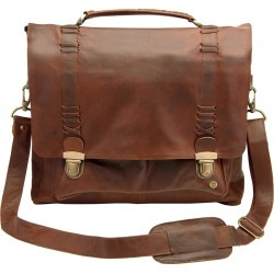MAHI Leather - Leather Classic Satchel Messenger Bag In Vintage Brown found on Bargain Bro UK from Wolf and Badger
