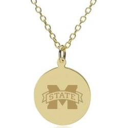 Mississippi State 14K Gold Pendant and Chain