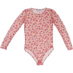 L2R THE LABEL - Printed Mesh Bodysuit In Floral Pink found on Bargain Bro from Wolf & Badger US for USD $34.20