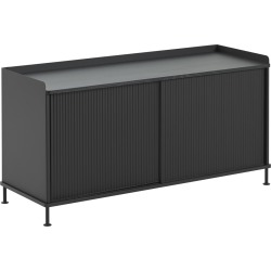 Enfold Sideboard 124.5 x 45 x 62, Black/Black found on Bargain Bro UK from Clippings
