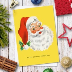 Bah Humbug Christmas Card Pack (6 cards)