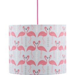 Rosa & Clara Designs - Flamingo Flourish Lampshade Ice Blue Medium found on Bargain Bro UK from Wolf and Badger