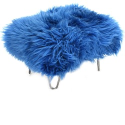 Sara - Sheepskin Footstool Cornflower Blue found on Bargain Bro UK from Clippings