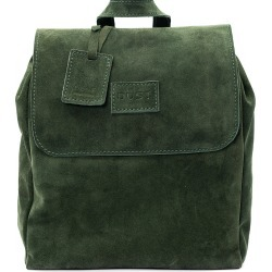 THE DUST COMPANY - Mod 238 Leather Suede Green Backpack
