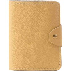 N'Damus London - Luxury Italian Leather Yellow Passport Cover found on Bargain Bro UK from Wolf and Badger