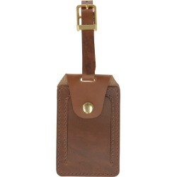 VIDA VIDA - Luxe Tan Leather Luggage Tag found on Bargain Bro from Wolf & Badger US for USD $34.20