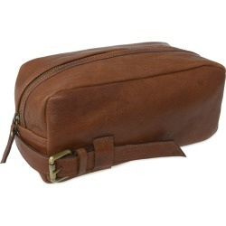 VIDA VIDA - Wandering Soul Brown Leather Wash Bag Buckle found on Bargain Bro UK from Wolf and Badger