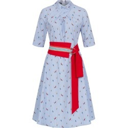 Marianna Déri - Franchesca Dress Parrots With Two Belts