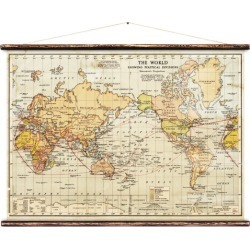 Political World Map Wall Hanging found on Bargain Bro from hardtofind.com.au for USD $210.31
