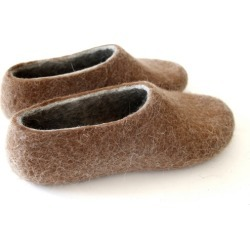 Women's Felted Wool Slippers In Brown found on Bargain Bro Philippines from hardtofind.com.au for $186.36