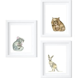 Trio of Mother and Baby Animals - Limited Edition Fine Art Prints
