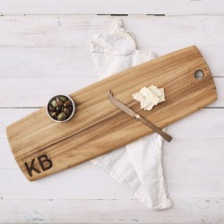 Large personalised 'monogram' wooden tapas board found on Bargain Bro Philippines from hardtofind.com.au for $145.38