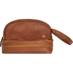 MAHI Leather - Leather Raleigh Toiletry Bag In Vintage Brown found on MODAPINS from Wolf and Badger for USD $95.69