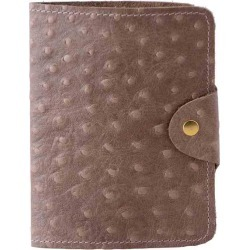 N'Damus London - Luxury Italian Leather Cream Ostrich Print Passport Cover found on Bargain Bro from Wolf & Badger US for USD $80.56
