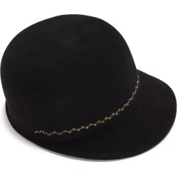Justine Hats - Black Cap With Embroidery