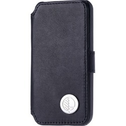 Drew Lennox - iPhone SE 5 5S Luxury English Leather Phone Wallet with 3 Card Slots in Verglas Black found on Bargain Bro UK from Wolf and Badger