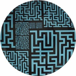 SOPHIA-ENJOY THINKING - Dinner Plate Green Maze found on Bargain Bro UK from Wolf and Badger