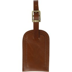 VIDA VIDA - Classic Tan Leather Luggage Tag found on Bargain Bro India from Wolf & Badger US for $25.00