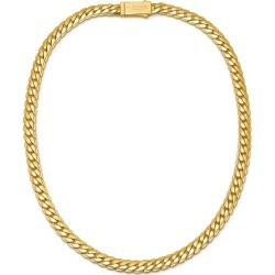 Northskull - Flat Curb Chain Necklace In Gold found on MODAPINS from Wolf & Badger US for USD $289.00