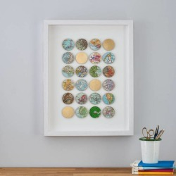 Personalised Map Spots Wall Art With Gold Leaf found on Bargain Bro from hardtofind.com.au for USD $164.02