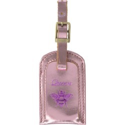 VIDA VIDA - Queen Bee Metallic Pink Leather Luggage Tag found on Bargain Bro from Wolf & Badger US for USD $21.28