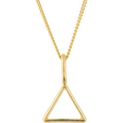 Katie Mullally - Hollow Triangle Yellow Gold Plated Necklace found on MODAPINS from Wolf & Badger US for USD $196.00