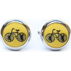 Yellow Bike Cufflinks found on Bargain Bro Philippines from hardtofind.com.au for $37.55