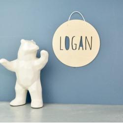 Personalised Wood Name Sign