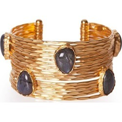 Christina Greene - Wire Stackable Cuff in Labradorite found on Bargain Bro India from Wolf & Badger US for $329.00