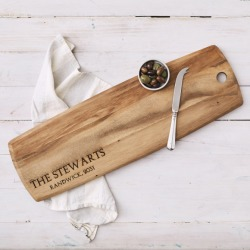 Large personalised 'family' wooden tapas board found on Bargain Bro Philippines from hardtofind.com.au for $145.38