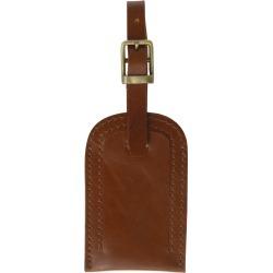 VIDA VIDA - Classic Tan Leather Luggage Tag found on Bargain Bro from Wolf & Badger US for USD $21.28