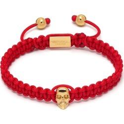 Northskull - Atticus Skull Macramé Bracelet In Red & Gold found on MODAPINS from Wolf & Badger US for USD $136.00