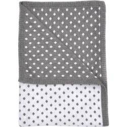 Reversible diamond knit pram blanket in mid grey marle/blanc found on Bargain Bro India from hardtofind.com.au for $50.65