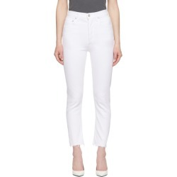 Agolde White Riley Crop Jeans found on MODAPINS from ssense asia-pacific for USD $177.27