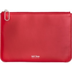 Jeff Wan - Leather Zip Clutch Red Port Louis Pouch found on Bargain Bro from Wolf & Badger US for USD $114.00