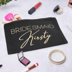 Personalised Bridesmaid Make Up Bag