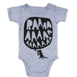 RAAAAA dinosaur onesie in black on grey