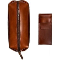 VIDA VIDA - Classic Tan Leather Shaving Bag found on Makeup Collection from Wolf and Badger for GBP 38.99