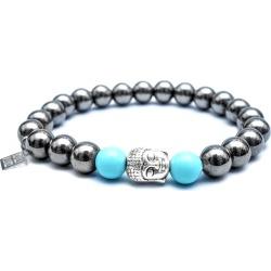 SARTESORI - Hematite Turquoise Stone Buddha Bracelet found on Bargain Bro India from Wolf & Badger US for $51.00
