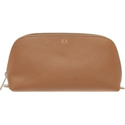 Monogrammed Saffiano Leather Cosmetic Bag with Gold Emboss found on Bargain Bro India from hardtofind.com.au for $63.88