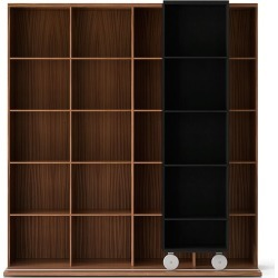 LTL420 Literatura Light Bookcase Ebony Stained Oak, Super-matt Walnut found on Bargain Bro UK from Clippings