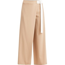 PAISIE - Wide Leg Wrap Trousers In Tan & White found on Bargain Bro from Wolf & Badger US for USD $136.80