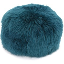 Sheepskin Pouffe Teal found on Bargain Bro UK from Clippings