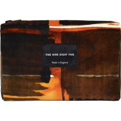ONE NINE EIGHT FIVE - Abstract Check Velvet Zip Pouch found on Bargain Bro UK from Wolf and Badger