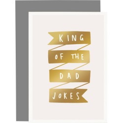 King of the Dad Jokes Father's Day card